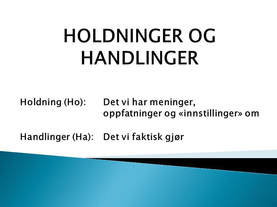 HOLDNINGER OG HANDLINGER