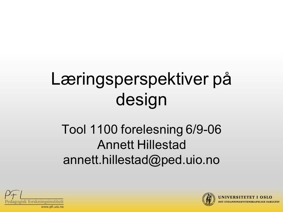 Læringsperspektiver på design