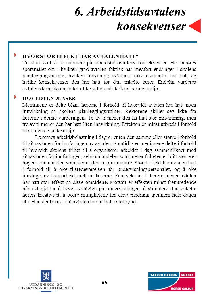 6. Arbeidstidsavtalens konsekvenser