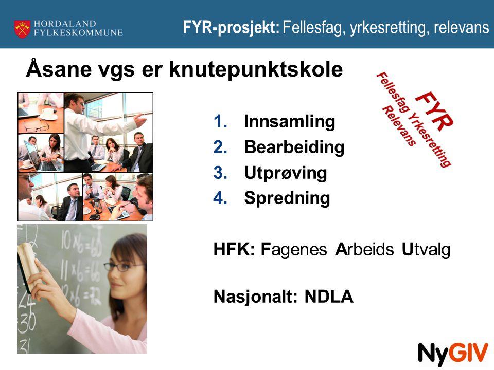 FYR-prosjekt: Fellesfag, yrkesretting, relevans
