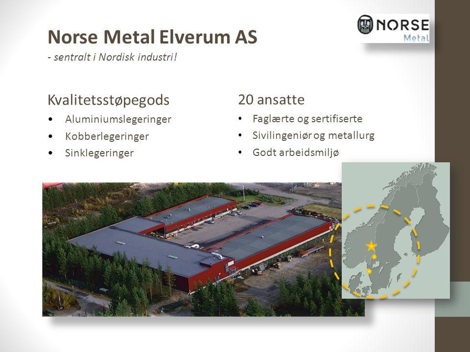 Norse Metal Elverum AS Kvalitetsstøpegods 20 ansatte
