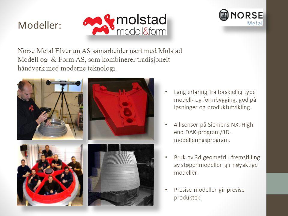 Modeller: Norse Metal Elverum AS samarbeider nært med Molstad Modell og & Form AS, som kombinerer tradisjonelt håndverk med moderne teknologi.