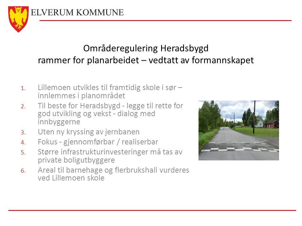 Områderegulering Heradsbygd rammer for planarbeidet – vedtatt av formannskapet