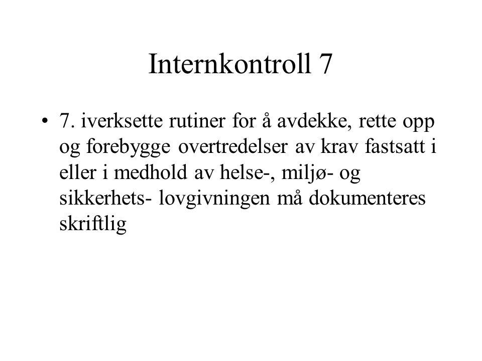 Internkontroll 7