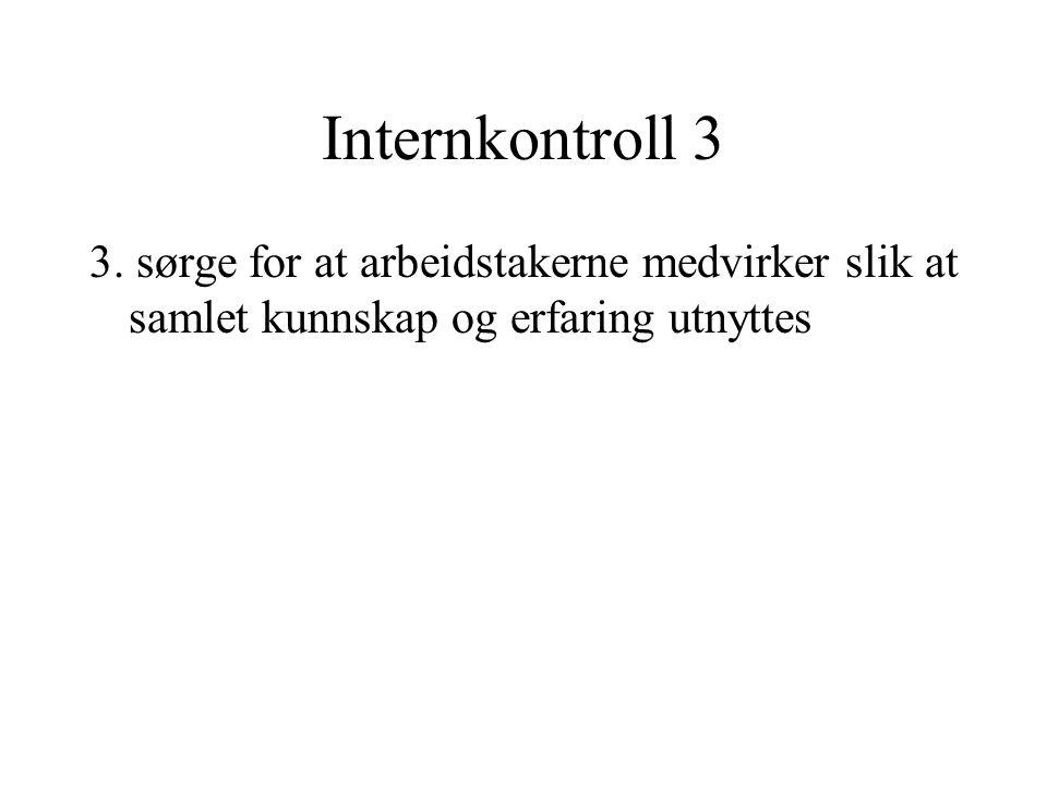 Internkontroll 3 3.