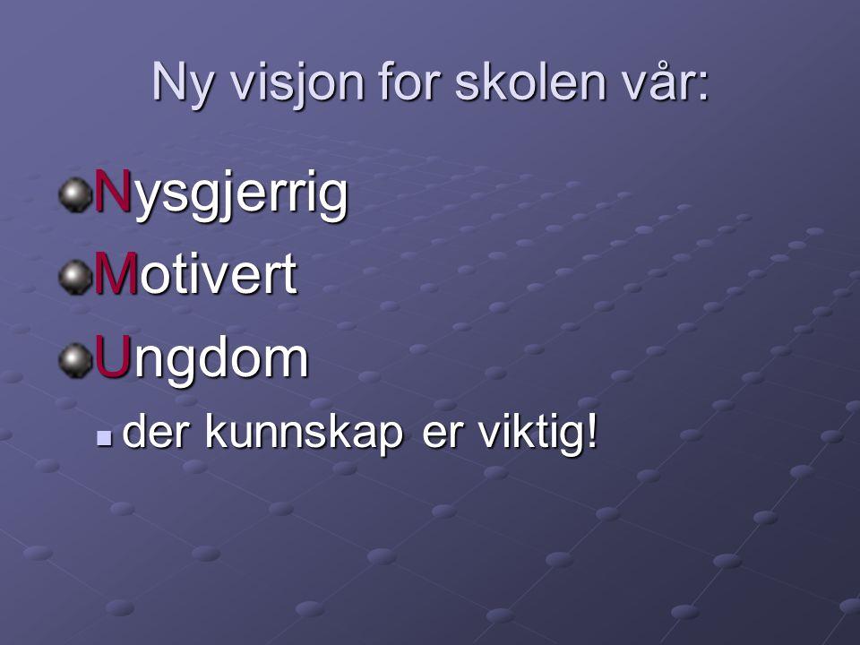 Ny visjon for skolen vår: