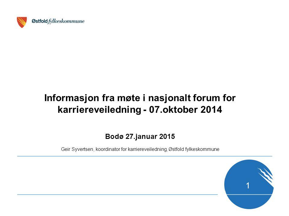 Informasjon fra møte i nasjonalt forum for karriereveiledning - 07