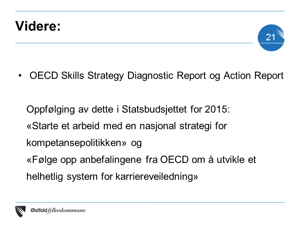 Videre: OECD Skills Strategy Diagnostic Report og Action Report