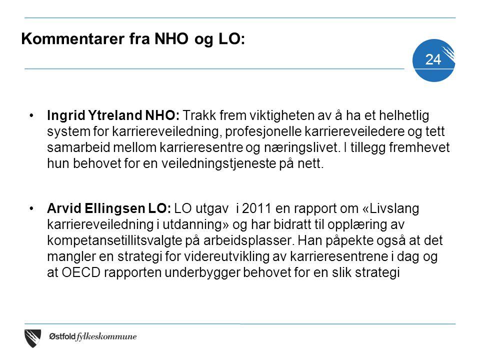 Kommentarer fra NHO og LO: