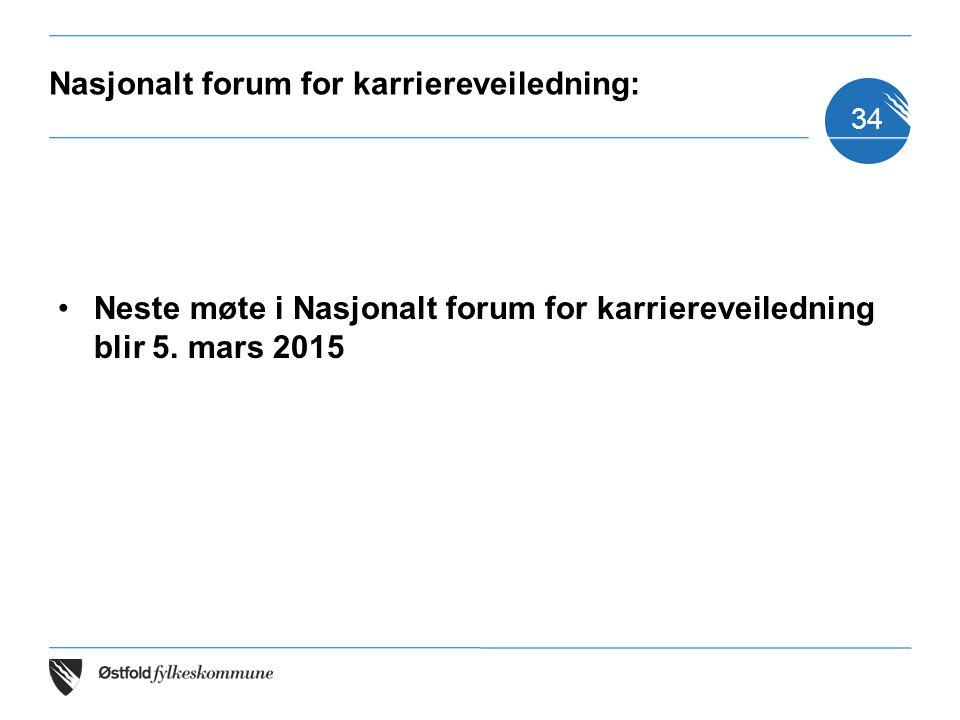 Nasjonalt forum for karriereveiledning: