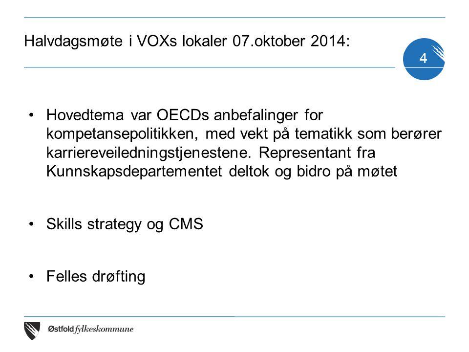 Halvdagsmøte i VOXs lokaler 07.oktober 2014: