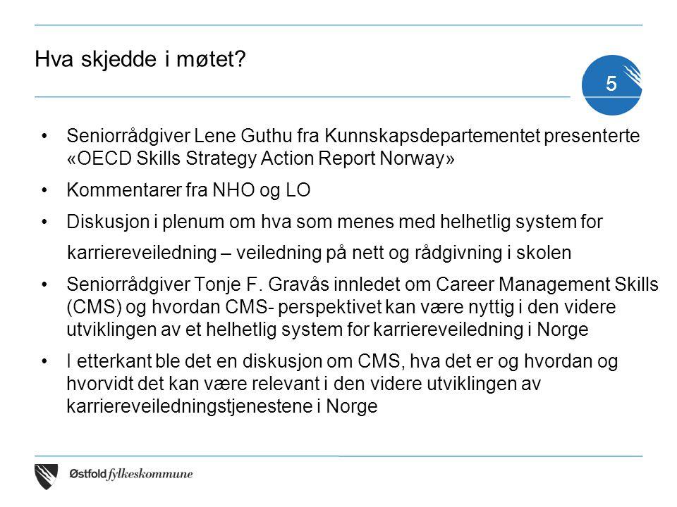 Hva skjedde i møtet Seniorrådgiver Lene Guthu fra Kunnskapsdepartementet presenterte «OECD Skills Strategy Action Report Norway»