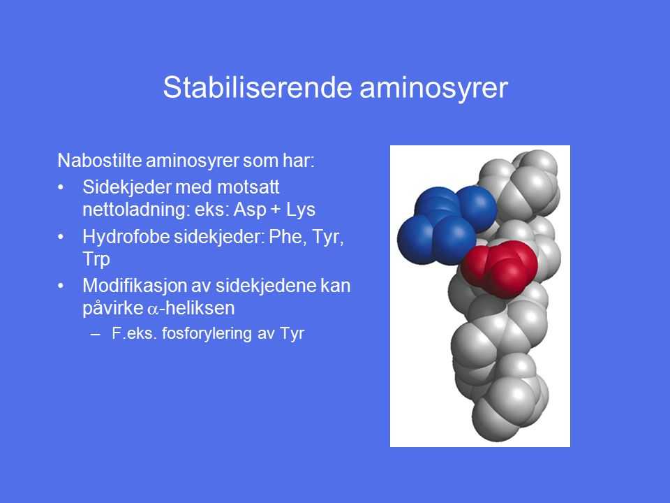 Stabiliserende aminosyrer