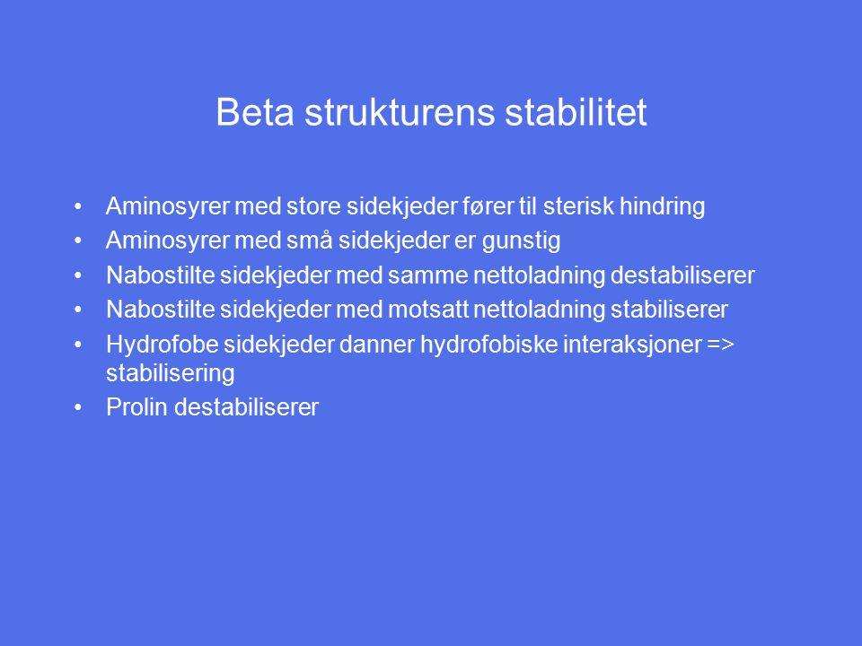 Beta strukturens stabilitet