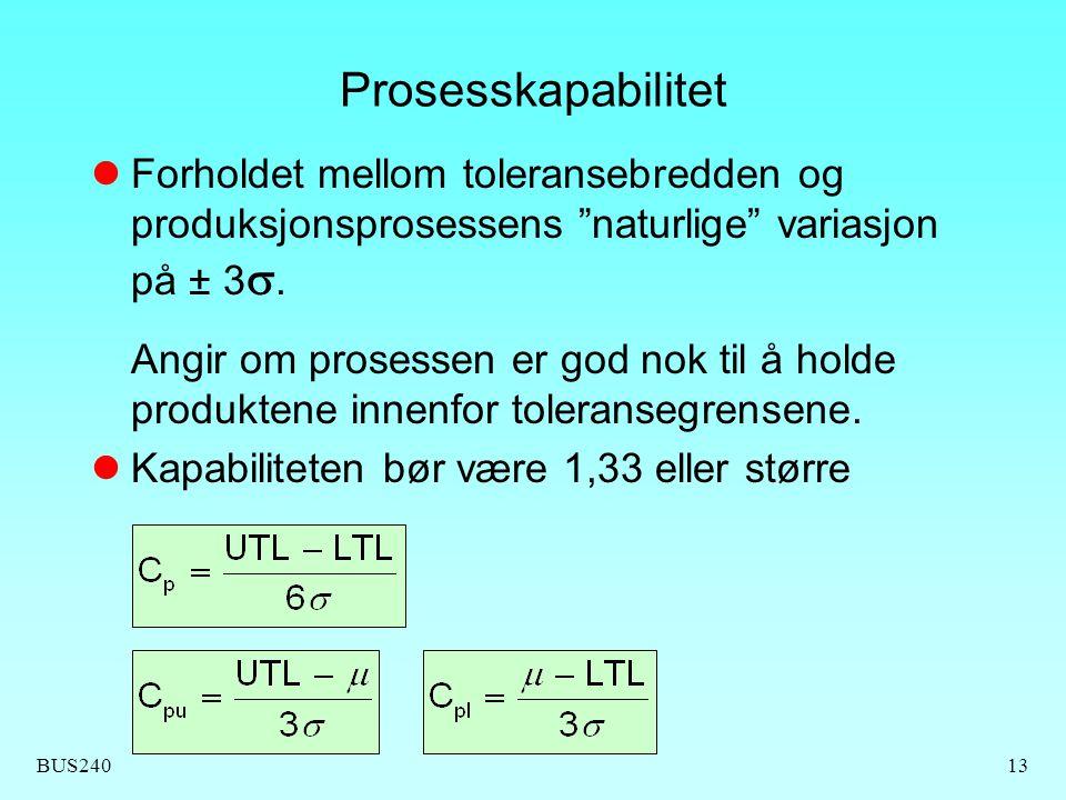 Prosesskapabilitet