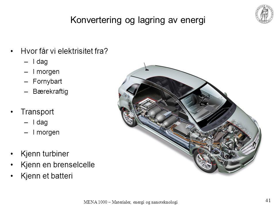 Konvertering og lagring av energi