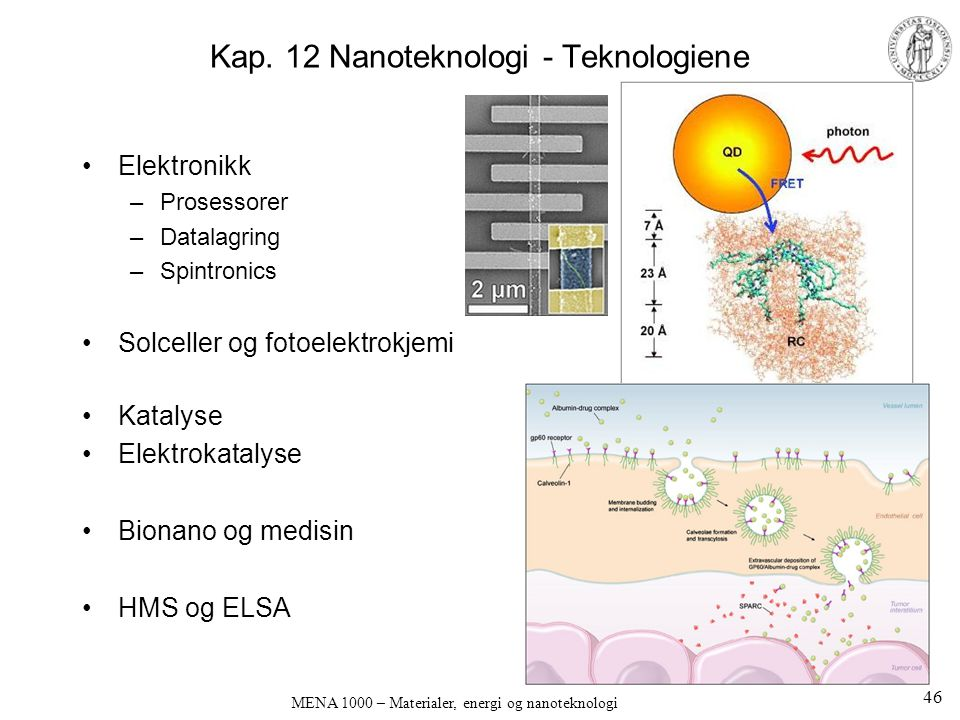 Kap. 12 Nanoteknologi - Teknologiene