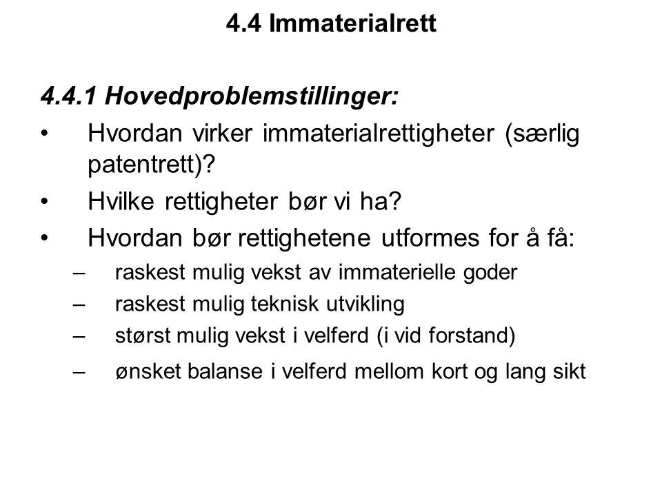 4.4.1 Hovedproblemstillinger:
