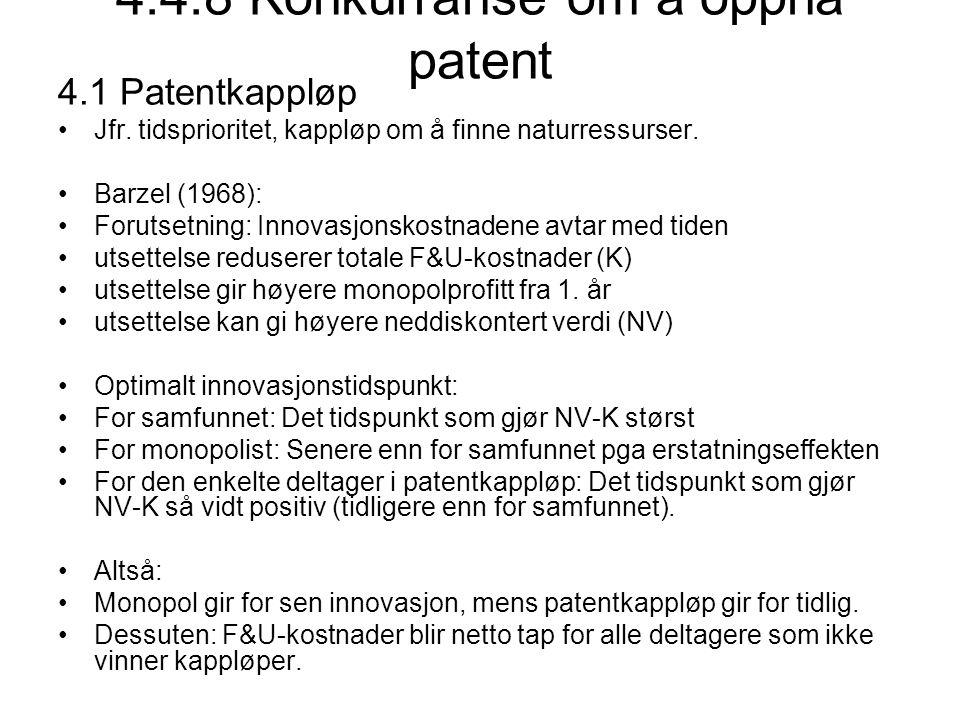 4.4.8 Konkurranse om å oppnå patent