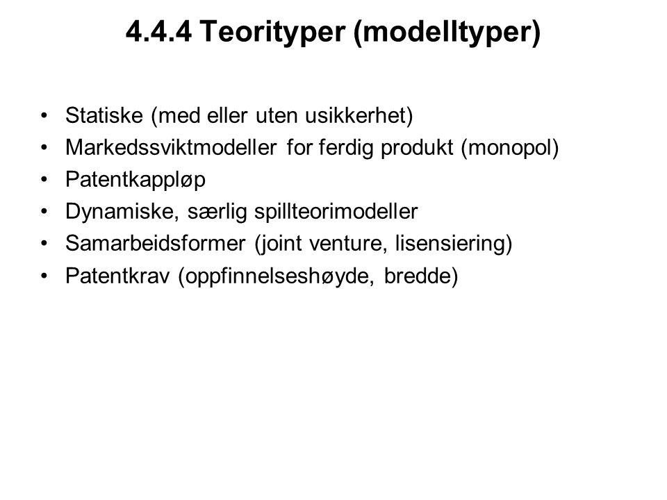 4.4.4 Teorityper (modelltyper)
