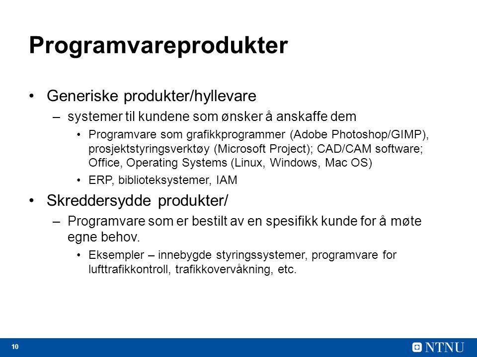 Programvareprodukter