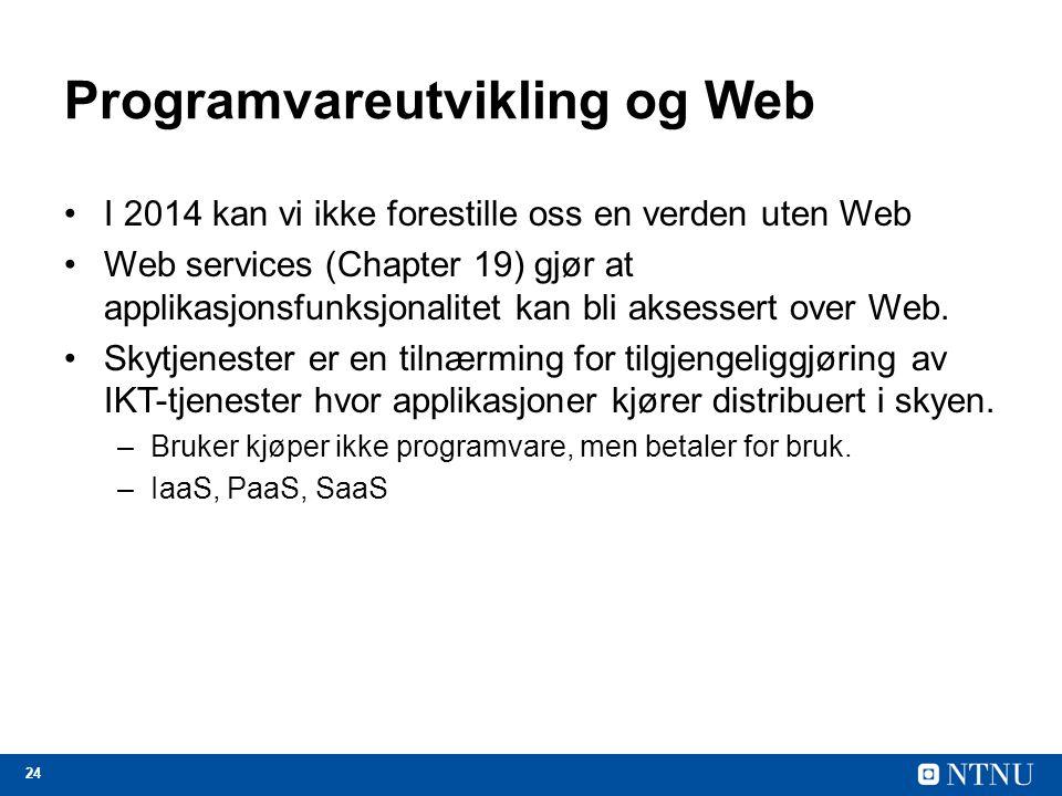 Programvareutvikling og Web