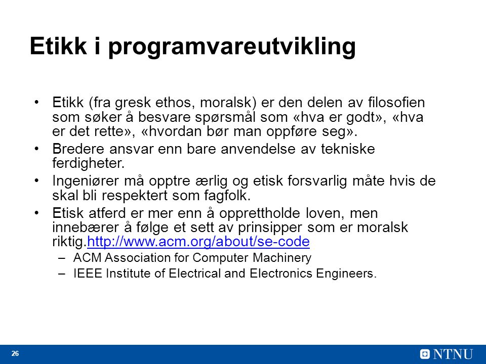 Etikk i programvareutvikling