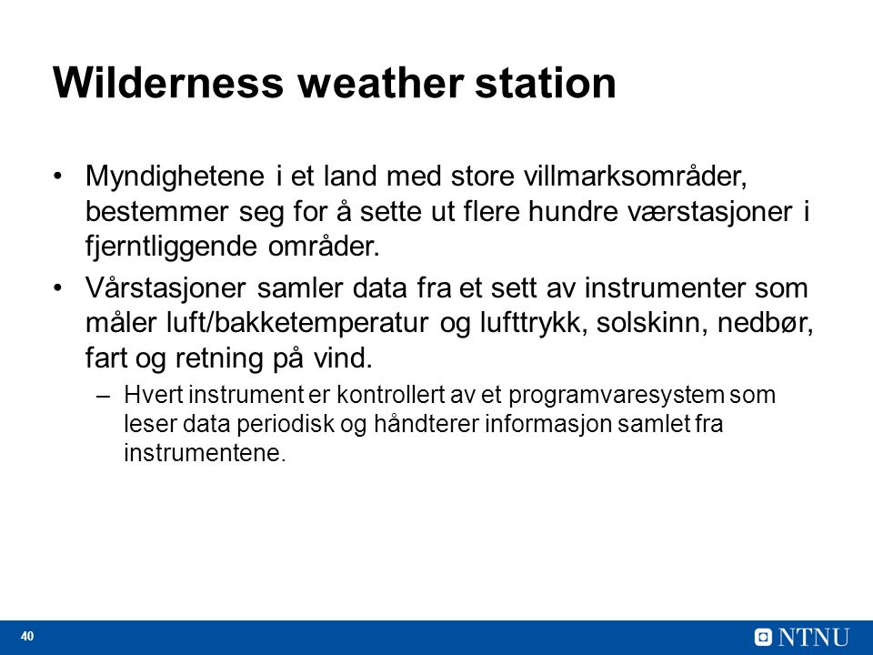 Wilderness weather station