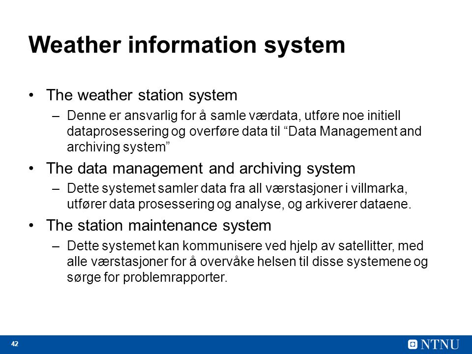 Weather information system