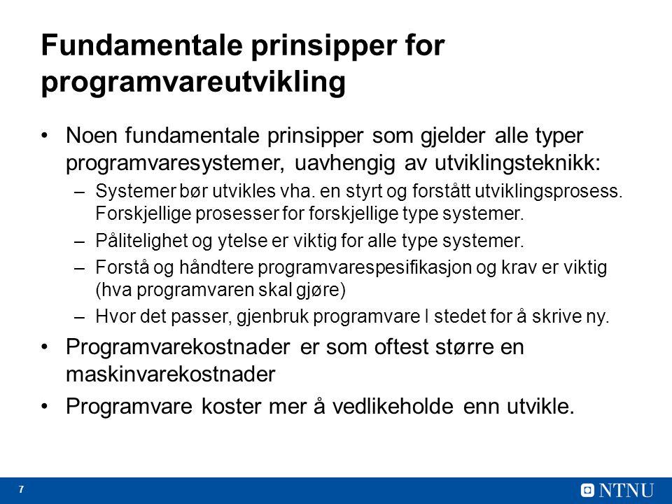 Fundamentale prinsipper for programvareutvikling