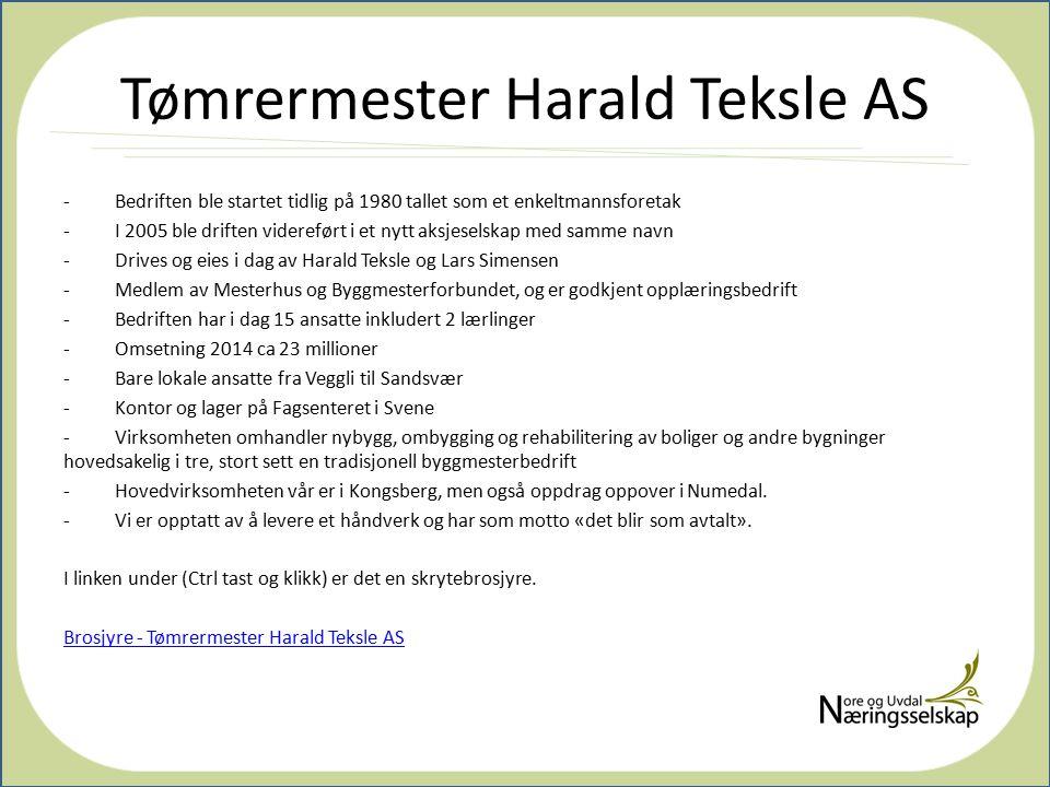 Tømrermester Harald Teksle AS
