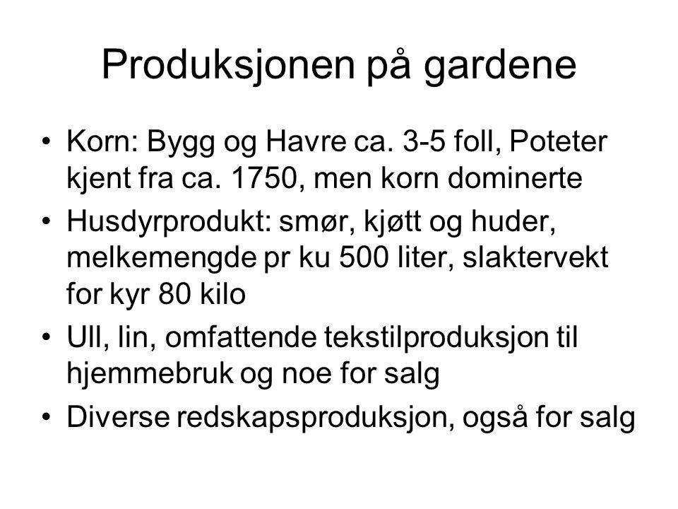 Produksjonen på gardene