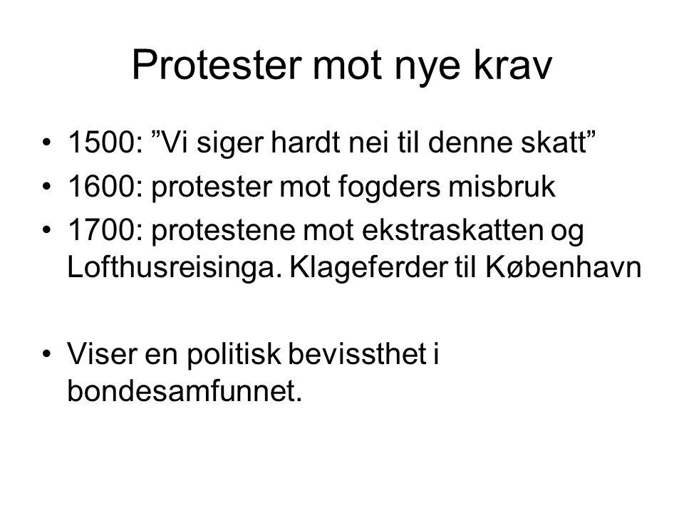 Protester mot nye krav 1500: Vi siger hardt nei til denne skatt