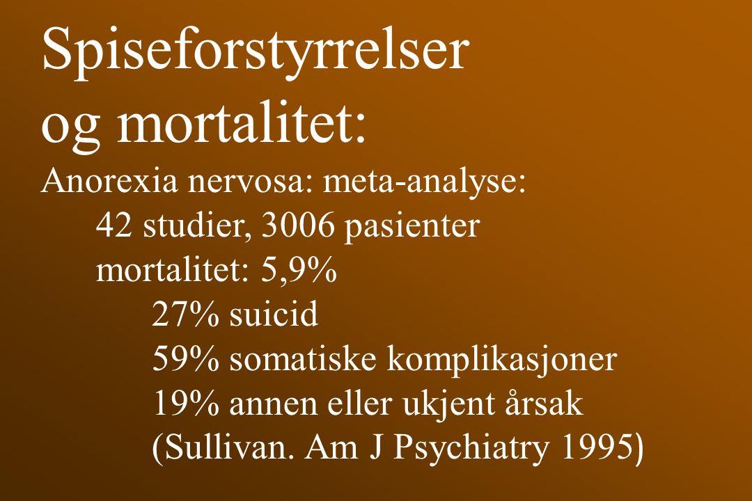 Spiseforstyrrelser og mortalitet: Anorexia nervosa: meta-analyse: