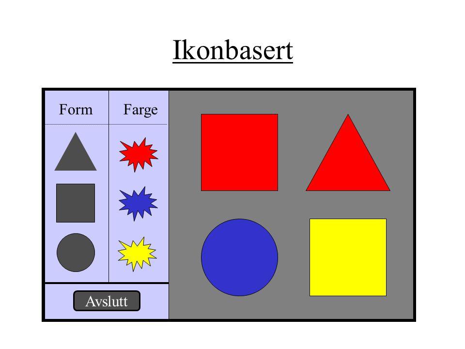 Ikonbasert Form Farge Avslutt