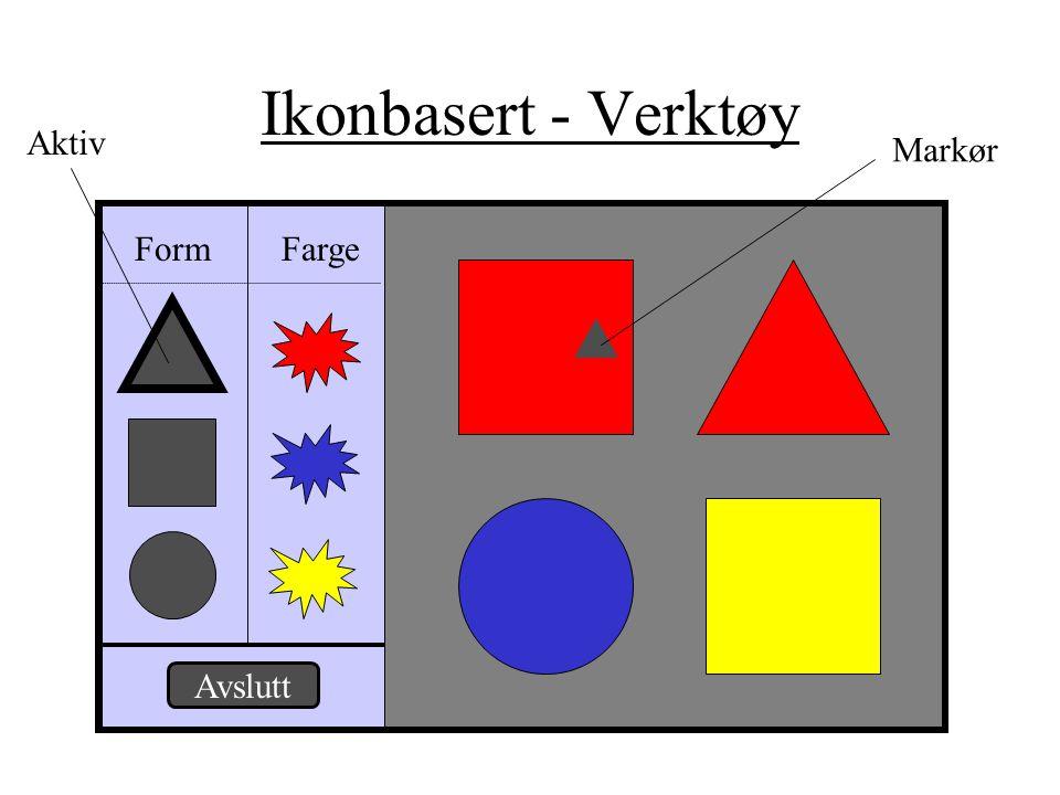 Ikonbasert - Verktøy Aktiv Markør Form Farge Avslutt