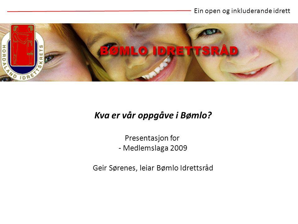 Kva er vår oppgåve i Bømlo