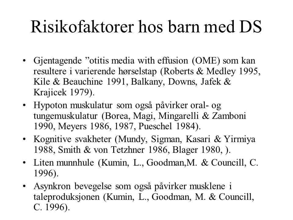 Risikofaktorer hos barn med DS