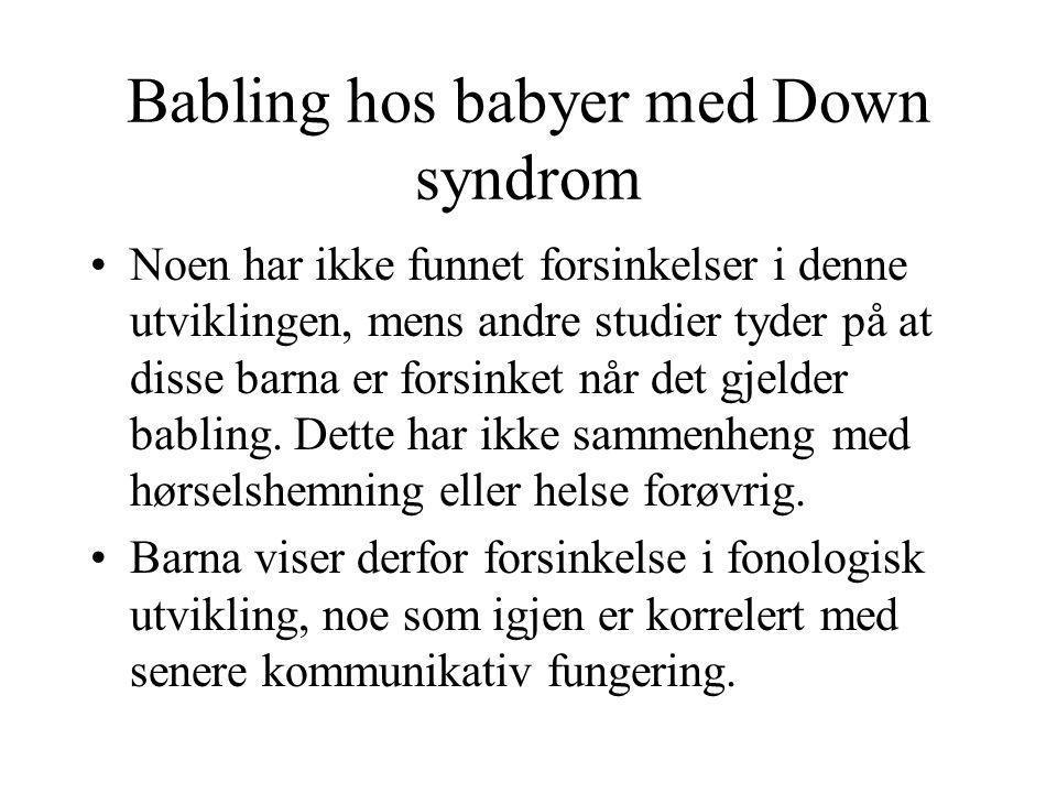 Babling hos babyer med Down syndrom