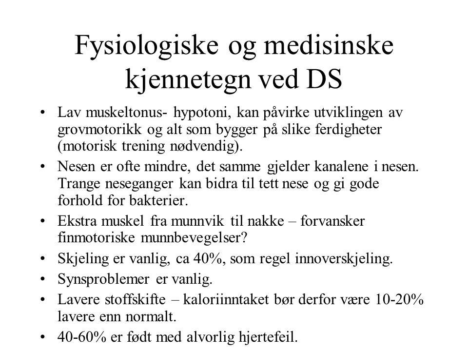 Fysiologiske og medisinske kjennetegn ved DS