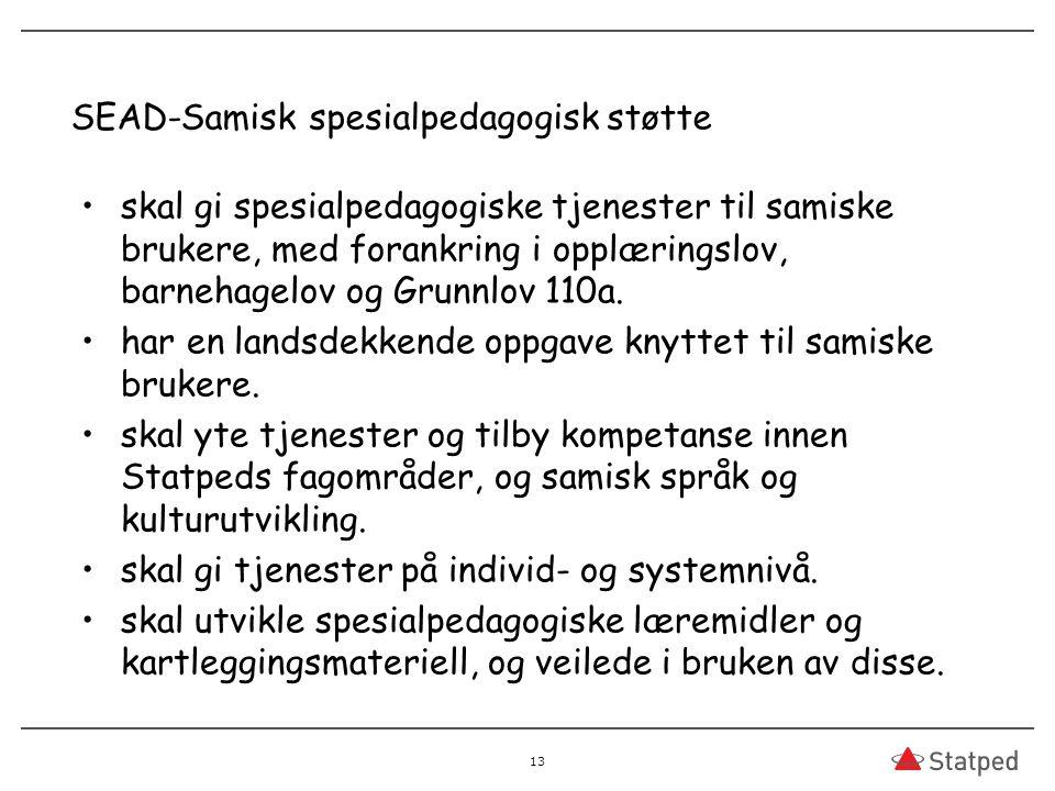 SEAD-Samisk spesialpedagogisk støtte