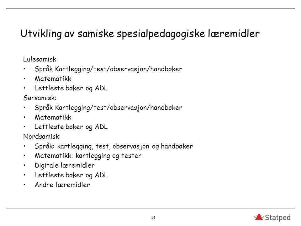 Utvikling av samiske spesialpedagogiske læremidler