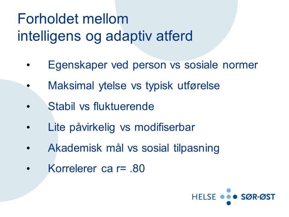 intelligens og adaptiv atferd
