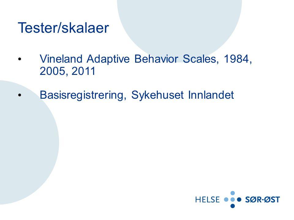 Tester/skalaer Vineland Adaptive Behavior Scales, 1984, 2005, 2011