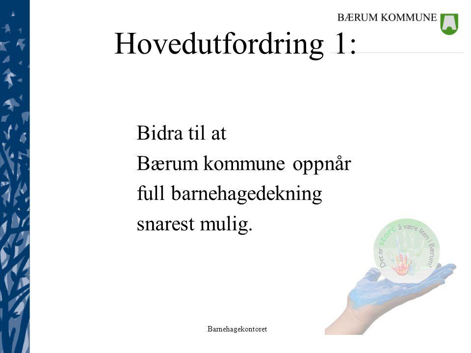 Hovedutfordring 1: Bidra til at Bærum kommune oppnår
