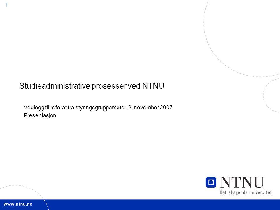 Studieadministrative prosesser ved NTNU