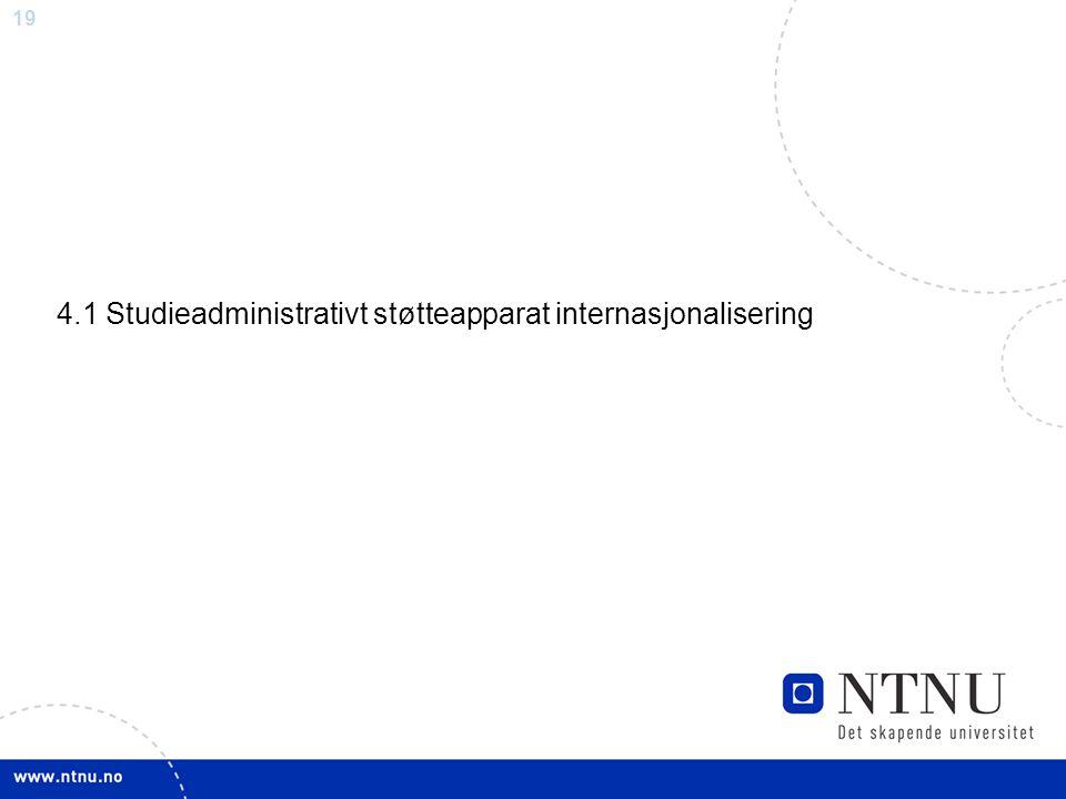 4.1 Studieadministrativt støtteapparat internasjonalisering