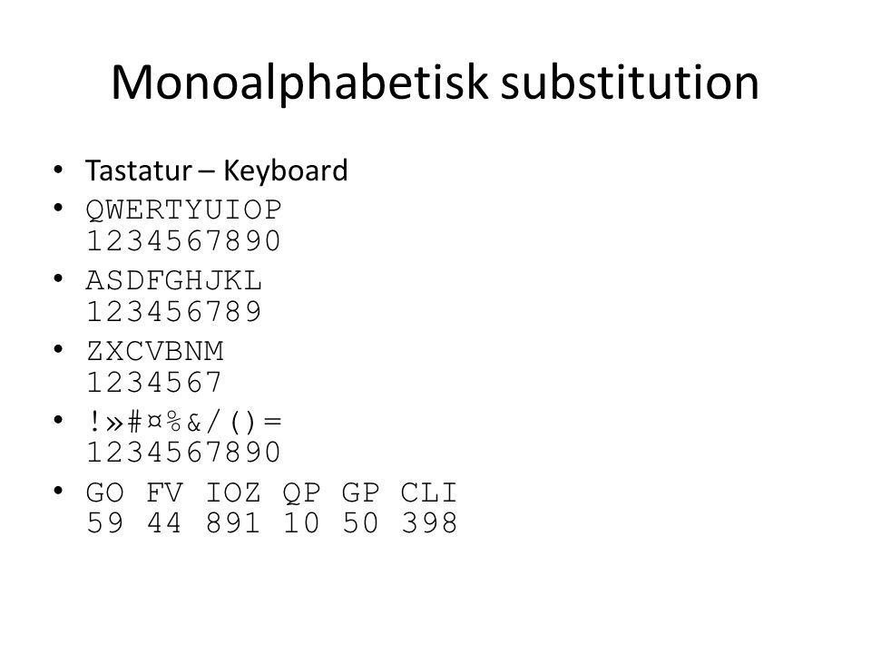 Monoalphabetisk substitution