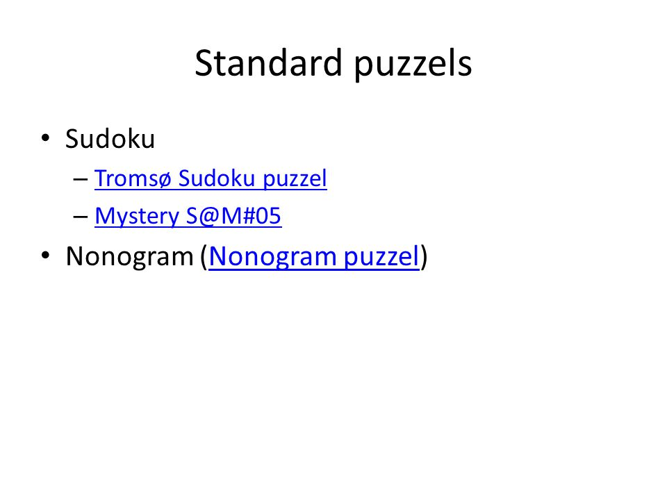 Standard puzzels Sudoku Nonogram (Nonogram puzzel)