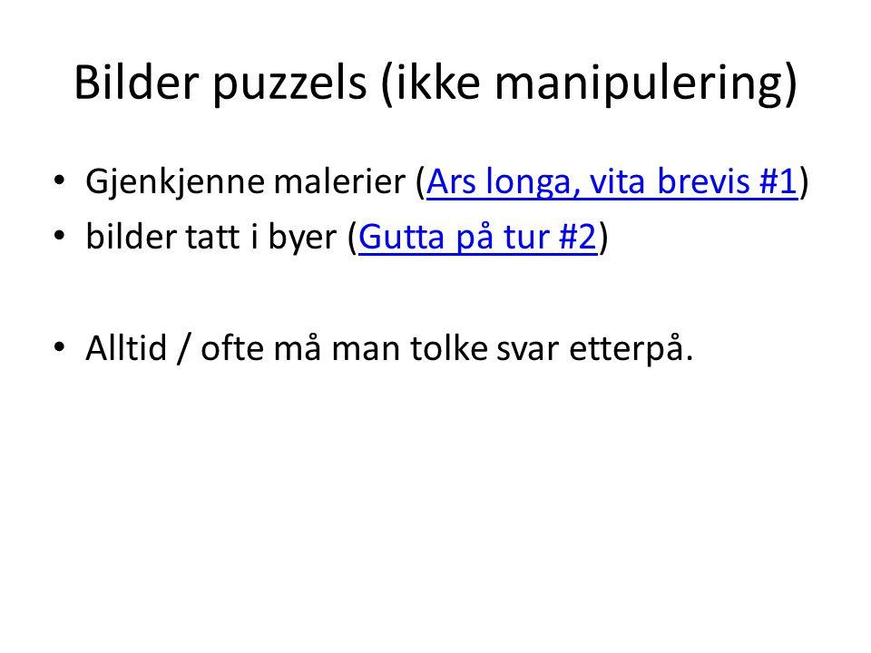 Bilder puzzels (ikke manipulering)